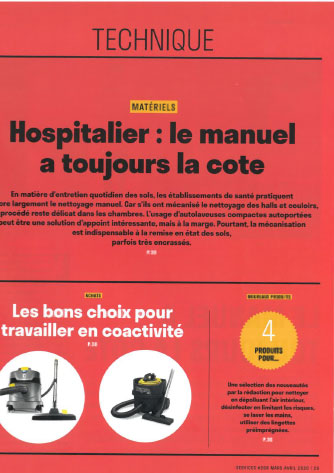 Article de presse Services Mars Avril 2020 Nupro ReFlo hôpital