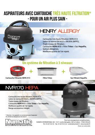 publicité services ocotbre novembre 2020 aspirateur très haute filtration hva160 et nvr170 hepa