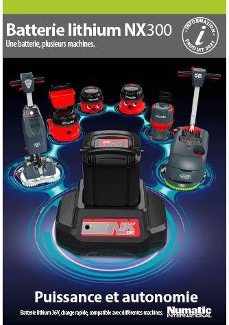 Brochure de présentation technologie batterie lithium NX300 Numatic