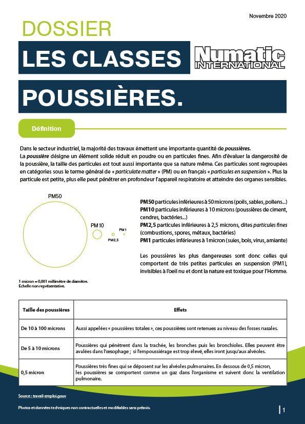 Dossier expertise classes poussières blog Numatic
