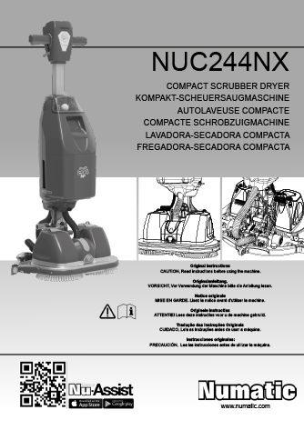 Notice utilisation autolaveuse à batterie Lithium 244NX Numatic