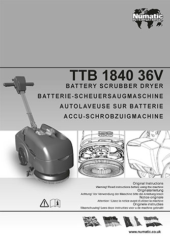 notice utilisation ttb1840nx numatic
